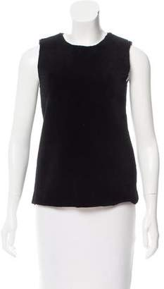 Calvin Klein Collection Lambskin & Wool Sleeveless Top