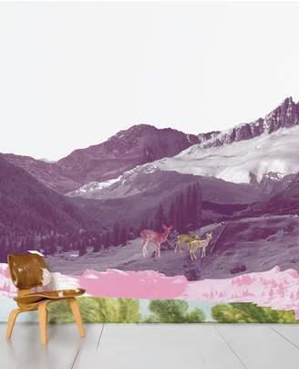 Domestic Mont Rose Printed Wallpaper