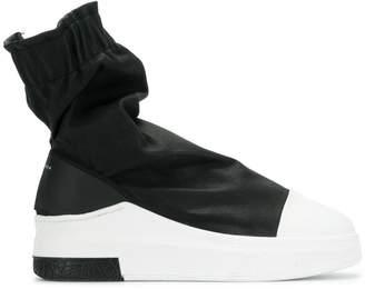 Cinzia Araia gathered hi-top sneakers