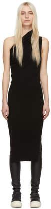 Rick Owens Black One-Shoulder Dress
