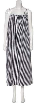 M.D.S. Stripes Sleeveless Maxi Dress