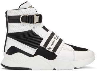 Balmain Black and White Exton Sneakers