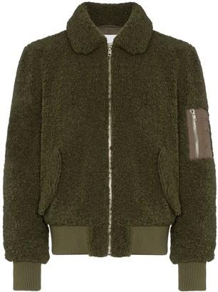 STAND STUDIO Nassim fleece bomber jacket