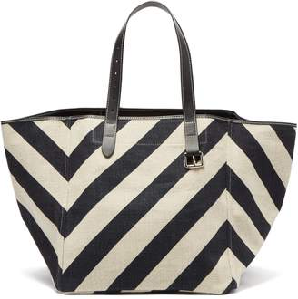 J.W.Anderson Belt-strap striped canvas tote