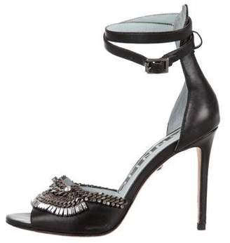 Dannijo Embellished Leather Sandals