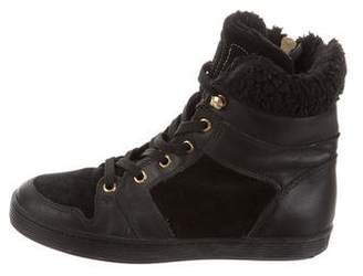 Bikkembergs Girls' Leather High-Top Sneakers