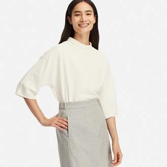 Uniqlo WOMEN Drape 3/4 Sleeve Blouse