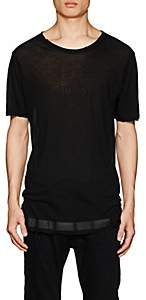 Taverniti So Ben Unravel Project BEN UNRAVEL PROJECT MEN'S TISSUE-WEIGHT COTTON JERSEY T-SHIRT - BLACK SIZE S
