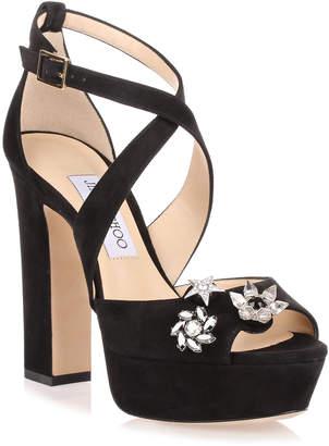 Jimmy Choo Janet black suede sandal