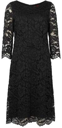 HUGO Black Floral Lace Dress