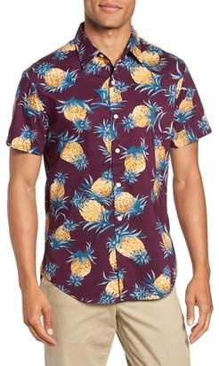 Bonobos Riviera Slim Fit Pineapple Print Sport Shirt