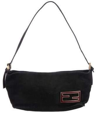 Fendi Suede Mini Shoulder Bag