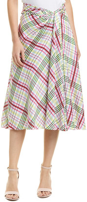 Prabal Gurung Moore Side Twist Silk Skirt