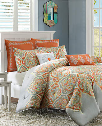 Madison Park Nisha Cotton Sateen 5-Pc. Twin Comforter Set Bedding