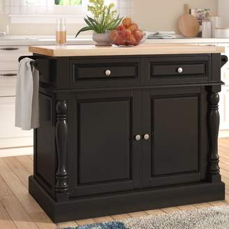 Co Darby Home Chalfant Kitchen Island with Butcher Block Top Base