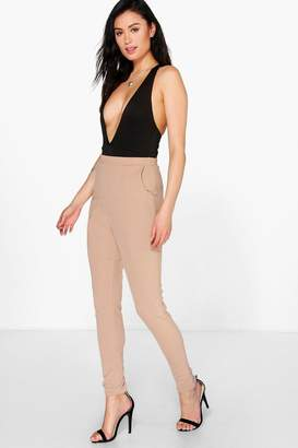 boohoo Crepe Super Stretch Skinny Trousers