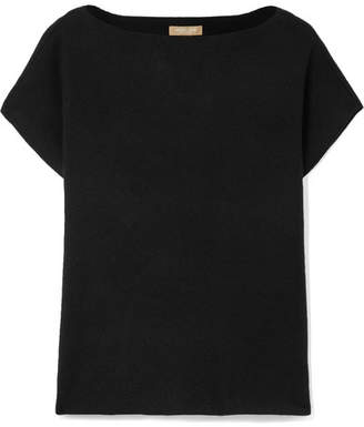 Michael Kors Ribbed Cashmere-blend Sweater - Black