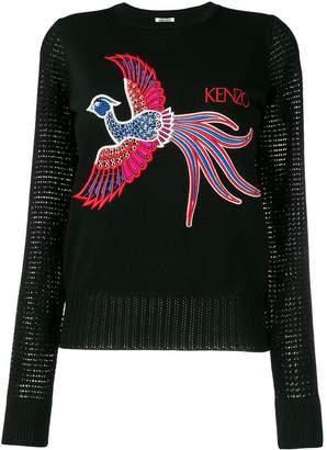 Kenzo phoenix knitted top