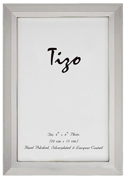 Tizo Plain Linear Narrow Silverplate Frame, 4