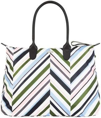 Harrods Chevron Medium Packaway Tote Bag