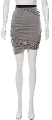 Helmut Lang Ruched Knee-Length Skirt
