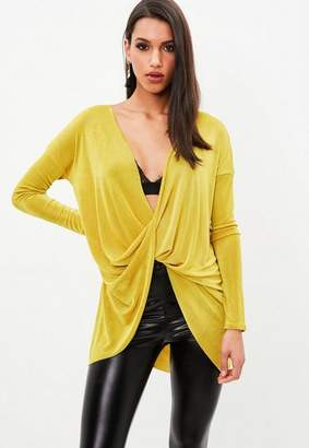 Missguided Wrap Front Cowl Neck Tunic