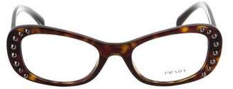 Prada Studded Oval Eyeglasses