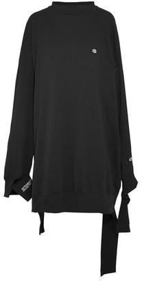 Vetements - + Champion In Progress Oversized Cotton-jersey Dress - Black $985 thestylecure.com