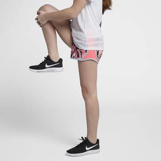 Nike Dri-FIT Tempo Big Kids' (Girls') Printed Running Shorts