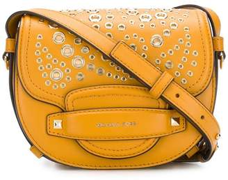 MICHAEL Michael Kors Cary medium grommeted Leather saddle bag