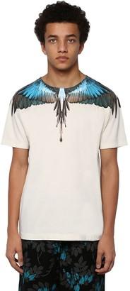 Marcelo Burlon County of Milan Printed Wings Cotton Jersey T-shirt