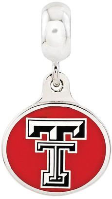Collegiate Bead Company Sterling Silver Texas Tech University Dangle Bead
