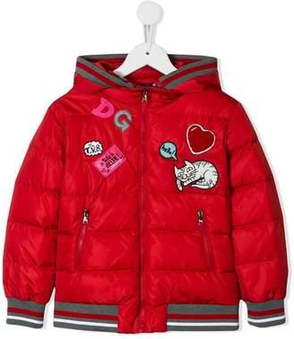 Dolce & Gabbana patch detailed padded jacket