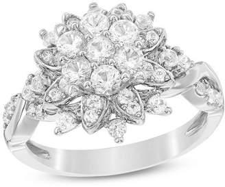 Zales 1-1/4 CT. T.W. Composite Diamond Starburst Ring in 14K White Gold