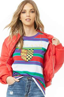 Forever 21 England Graphic Striped Tee
