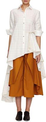 Palmer Harding Palmer//Harding Super Asymmetric Windowpane Shirt