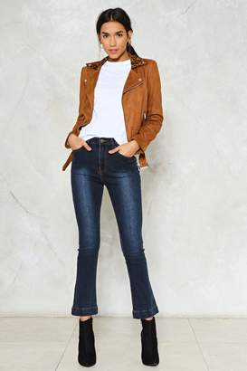 Nasty Gal Don't Really Flare Washed Jeans