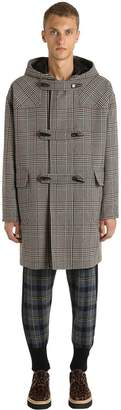 Stella McCartney Plaid Wool Blend Montgomery Coat