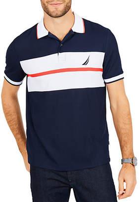 Nautica Classic-Fit Moisture-Wicking Chest Striped Polo