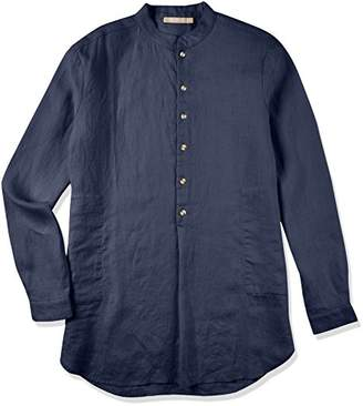 Isle Bay Linens Men's Long Sleeve Henley Mandarin Collar Shirt