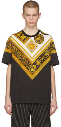 Versace Black Brocade T-Shirt