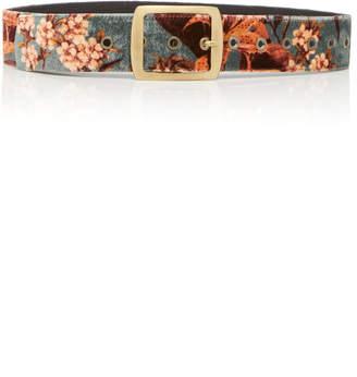 Johanna Ortiz M'O Exclusive San Telmo Floral-Print Velvet Belt