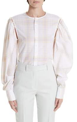 Calvin Klein Removable Sleeve Blouse