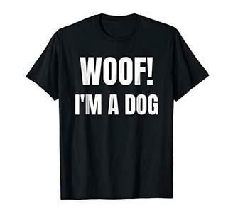 Woof I'm A Dog Funny Halloween Costume Tshirt