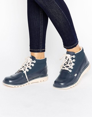 Kickers Hi Side Leather Boot $83 thestylecure.com