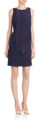 Trina Turk Aileen Fringe Sheath Dress $298 thestylecure.com