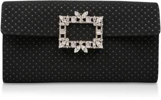 Roger Vivier Embellished Broche Vivier Envelope Clutch Bag