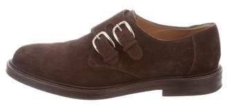 Gucci Suede Monk Strap Loafers
