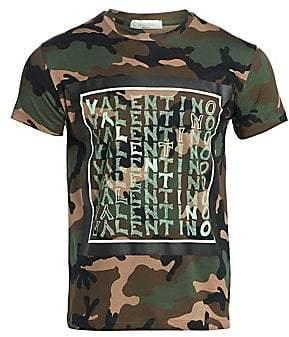 Valentino Men's Logo Chevron T-Shirt