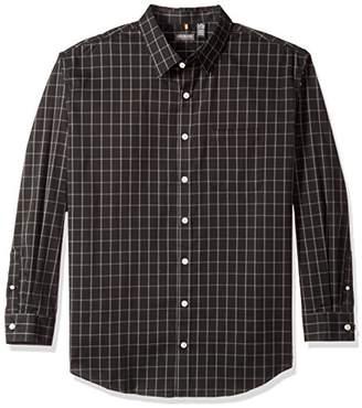 Van Heusen Men's Big and Tall Traveler Button Down Long Sleeve Stretch Black/Khaki/Grey Shirt